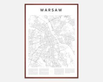 Warsaw Map Print