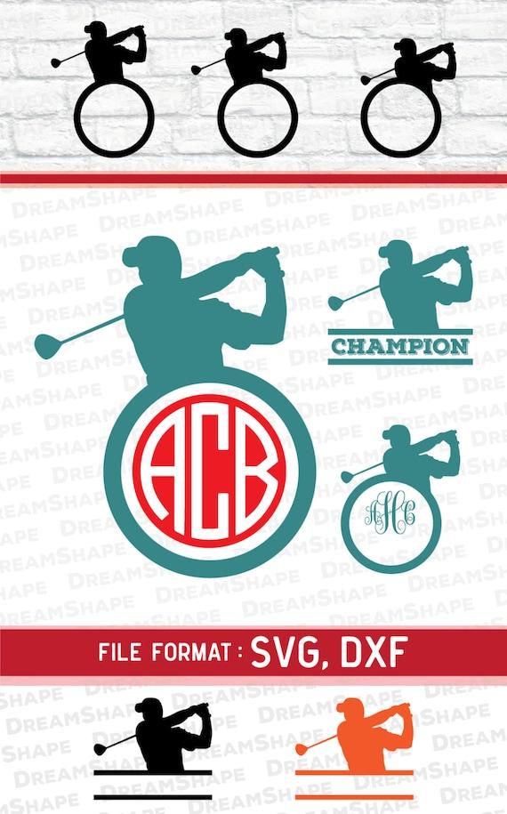 Download SVG Golf Cut Files Vinyl Cutters Monogram Cricut Files