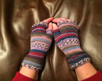 Fingerless Gloves - Warm, colourful, fun and cosy