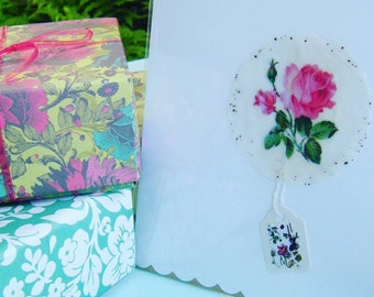 English country garden greeting card