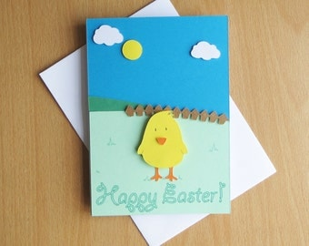 Easter Chick Handmade Card
