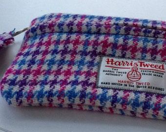 Harris Tweed Small Zippered Case / Purse