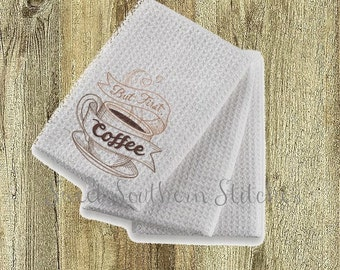 Kitchen Towel - But First Coffee - Made In The USA!