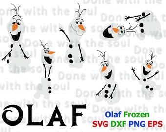 Olaf Frozen– Olaf svg - Frozen vector - Olaf vector - Frozen svg - Olaf Snowman - Layer cutting file - Disney svg files - Svg eps dxf - PNG
