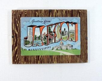 Framed vintage postcard of Jackson Mississippi