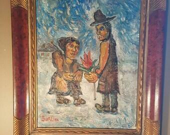 David burliuk original  oil painting on board