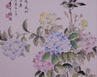 Hydrangea - Authentic Traditional Chinese Painting (Made to Order)