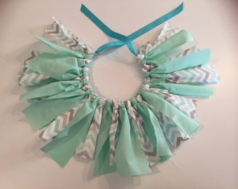 Teal and Chevron Scrap Tutu
