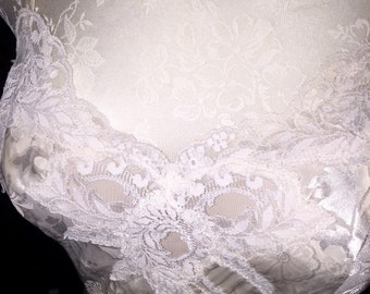 Vintage Victorias Secret Satin Lace Bridal Nightgown M