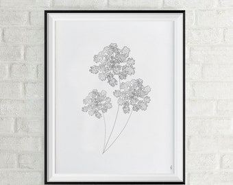 Art Print • Snow Flower •