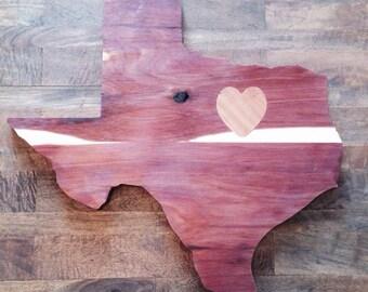 LOVE Texas Wall Art - 22 Inch