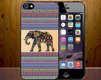 Aztec Mayan Traditiional Artwork Carve Pattern Elephant Floral Hard Plastic Phone Cover Z479