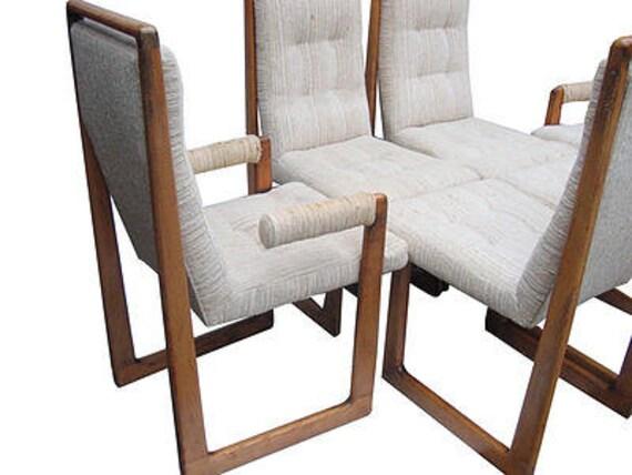 Vladimir kagan cubist stoelen set van 6 alle oorspronkelijke - Stoelen rock en bobois ...