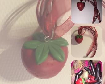 Collier gourmand fraise