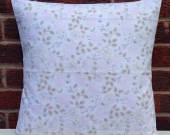 """1970's Pink Floral 16"""" Cushion Cover Shabby Chic, Country Cottage, True Vintage"""