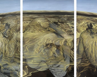 Illusion, Separation [Triptych] - 3 x Ltd Ed. Giclée Art Prints on Canvas by Jane Nicol