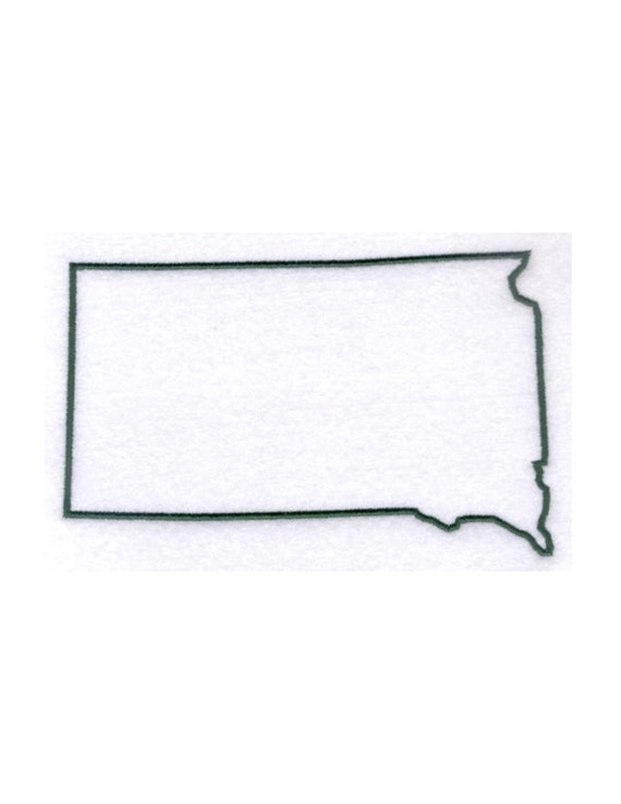 South Dakota Stencil Made From 4 Ply Mat By