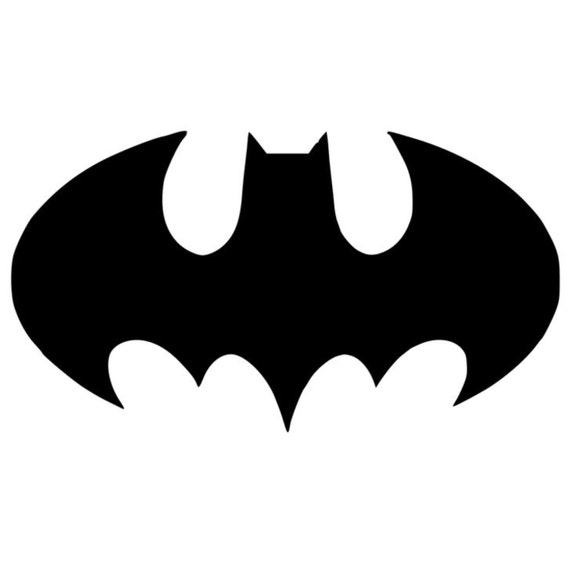 Bat Symbol Batman Stencil Made From 4 Ply Mat Board From