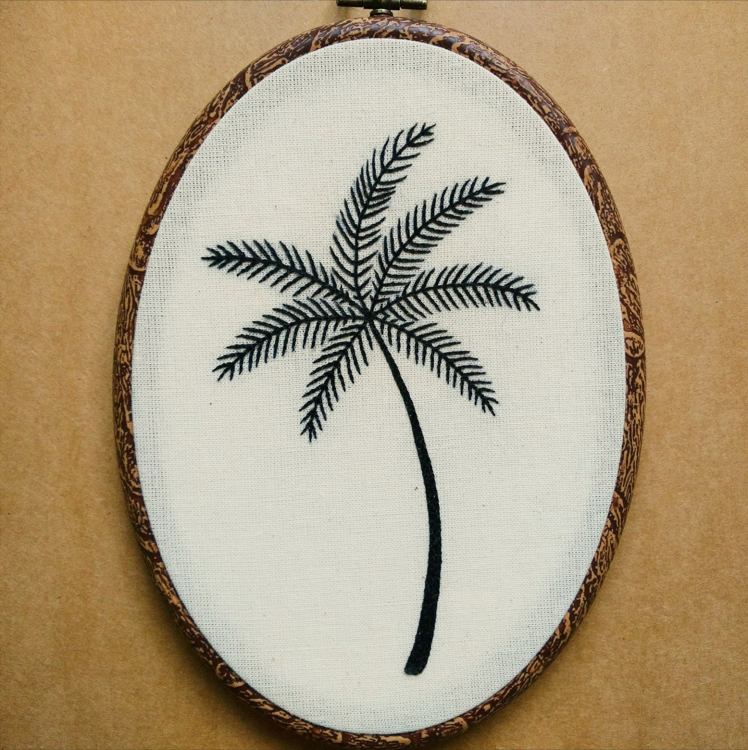 Palm tree hand embroidery pattern pdf modern embroidery pattern this is a digital file bankloansurffo Choice Image