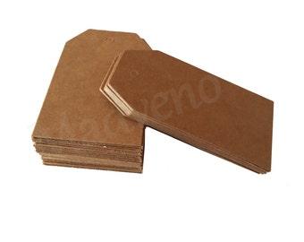 Lot of 20 labels Brown cardboard