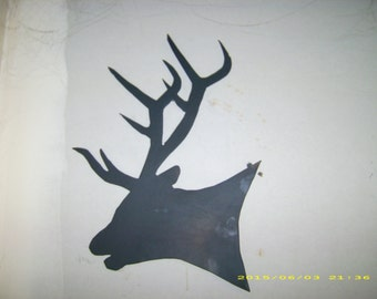 Elk head silhouette