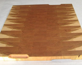 Large Cherry End Grain Cutting Board (#2)