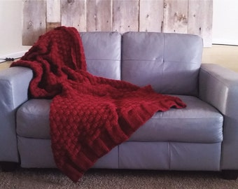 Cozy Wool Knit Blanket