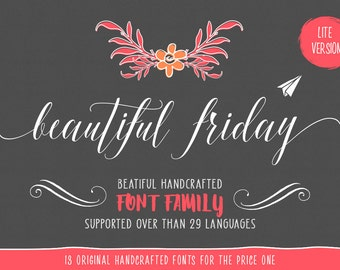 11 digital fonts for 5 dollar - Handwritten font download. Calligraphy font. Get these downloadable fonts perfect as a wedding font or craft