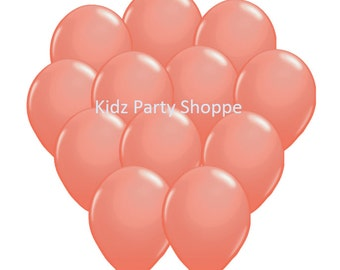 "12ct CORAL BALLOONS 11"" latex birthday party shower supplies decorations centerpiece"