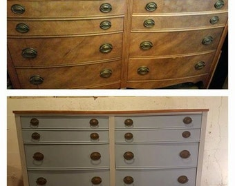 Federal style double dresser