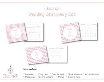 Chevron Wedding Stationery Set
