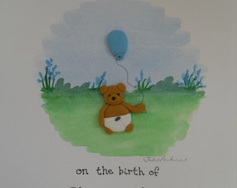 Congratulations - Personalised New Baby Card