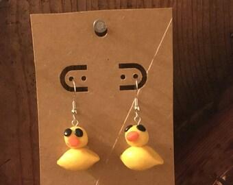 Rubber Duck Earrings