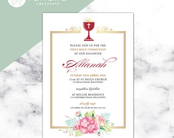 Holy Communion Invitation  // 120 x 180mm // Change to any Occasion