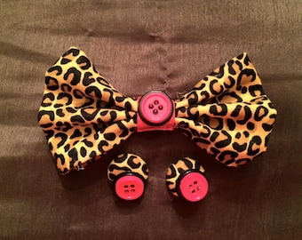 Little Miss Sassy Pants Bow Tie necklace.