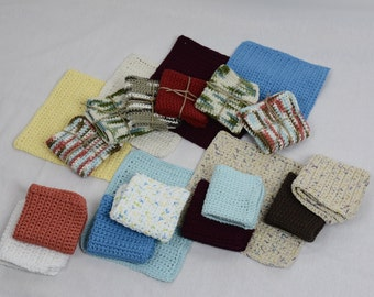 4 PACK - Kitchen Wash Cloths - Mix and Match Colors