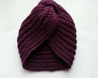 knit Turban Hat Fashion Knit Hat Knit Women's Turban 50s style Hand Knitted Beanie hat Turban cap Knit Beanie for Women turban