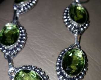 Peridot Bracelet- 7.75 inches!