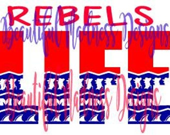 Rebels Life (OLE MISS) SVG file
