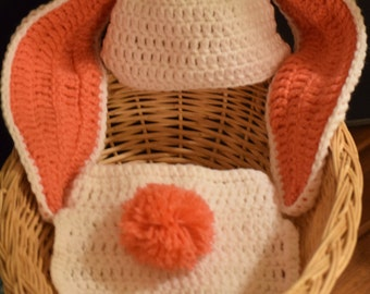 Floppy Bunny Hat and Diaper Cover
