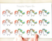Terra with Unicorn stickers, planner stickers, reminder stickers, daily stickers, unicorn stickers, rainbow, 23 stickers, PPC116