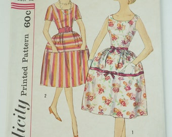 1960S Vintage Simplicity Paper Sewing Pattern 3876 Junior And Misses One-piece Dress Size 12 Bust 32