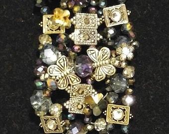 Crystal Bracelet With Butterflies