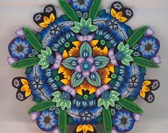 Polymer Clay Mandala Canes Ornament
