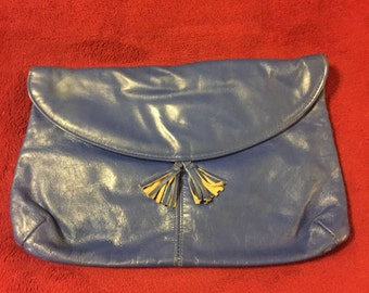 Vintage Blue Clutch