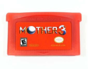 Mother 3 GBA (Earthbound 2) English Red Cartridge Fan Translation 1.2 for Nintendo Game Boy Advance RPG Customized Cart - Free Shipping!