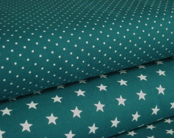 Fabric Jersey petrol star/points