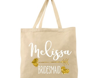 Personalized Wedding Tote for Bridesmaid