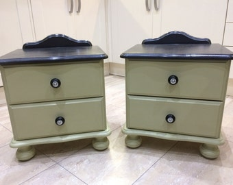 Shabby Chic Bedside Table in Annie Sloan Chalk Paint