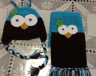 Owl hat and Scarf